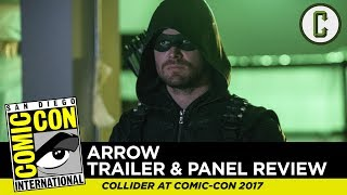 "David Griffin and Josh Macuga discuss the trailer and panel for the sixth season of ""Arrow"" at San Diego Comic-Con 2017.Follow us on Twitter: https://twitter.com/ColliderVideoFollow us on Instagram: https://instagram.com/ColliderVideoFollow us on Facebook: https://facebook.com/colliderdotcomAs the online source for movies, television, breaking news, incisive content, and imminent trends, COLLIDER is a more than essential destination: http://collider.comFollow Collider.com on Twitter: https://twitter.com/ColliderSubscribe to the SCHMOES KNOW channel: https://youtube.com/schmoesknowCollider Show Schedule:- MOVIE TALK: Weekdays  http://bit.ly/29BRtOO- HEROES: Weekdays  http://bit.ly/29F4Job- MOVIE TRIVIA SCHMOEDOWN: Tuesdays & Fridays  http://bit.ly/29C2iRV - TV TALK: Mondays  http://bit.ly/29BR7Yi - COMIC BOOK SHOPPING: Wednesdays  http://bit.ly/2spC8Nn- JEDI COUNCIL: Thursdays  http://bit.ly/29v5wVi - COLLIDER NEWS WITH KEN NAPZOK: Weekdays  http://bit.ly/2t9dNIE- BEST MOVIES ON NETFLIX RIGHT NOW: Fridays  http://bit.ly/2txP3gn- BEHIND THE SCENES & BLOOPERS: Saturdays  http://bit.ly/2kuLuyI- MAILBAG: Weekends  http://bit.ly/29UsKsd"