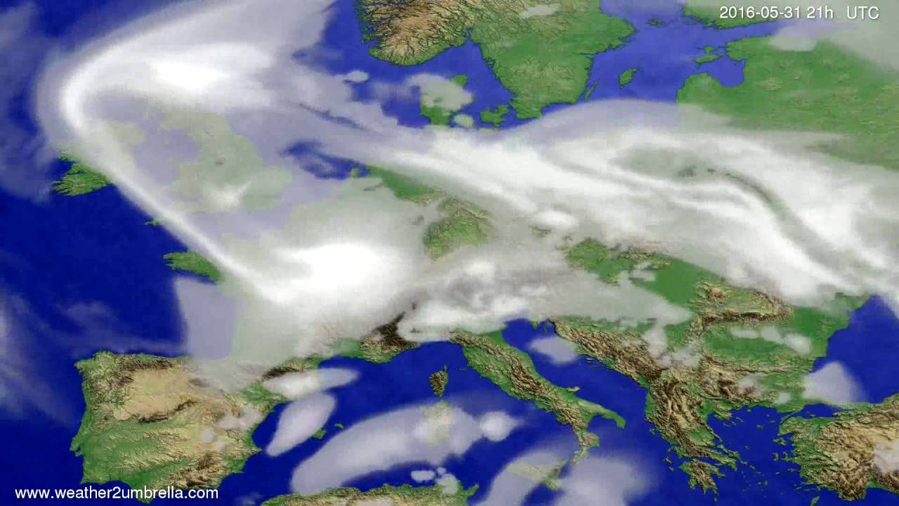 Cloud forecast Europe 2016-05-28