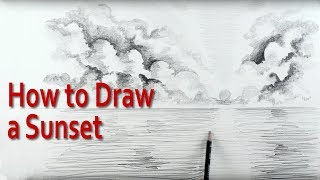 In this art tutorial on how to draw a sunset, I start by explaining, step by step, how to structure the drawing. You will learn how the clouds can be designed to focus the eye on the sunset to create a wonderful effect. I show in detail how to sketch and draw the clouds using simple drawing  techniques of shading both inside and outside of the line to create beautiful cloud effects.I also explain how to draw water to make it look as though it is receding to the horizon. I also show step by step how to create the reflection of the sun (the sunset) on the water, or the ocean.This art tutorial video is aimed at beginners to drawing and sketching  and children wanting to know step by step drawing techniques and those starting out on the exciting journey of drawing.Check out : http://www.art-tutorialsonline.comhttp://paulpriestley.comyoutube.com/paulpriestleyart