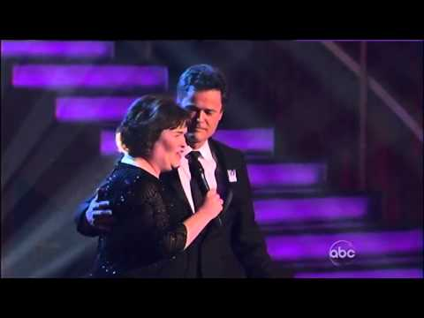 "Susan Boyle & Donny Osmond (Duet/Serenade) ~ ""This Is The Moment"" ~ Dancing With The Stars"