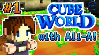 "Cube World - Ali-A Plays Part #1! - ""FREE PINEAPPLES!""  (Cube World Alpha Gameplay)"