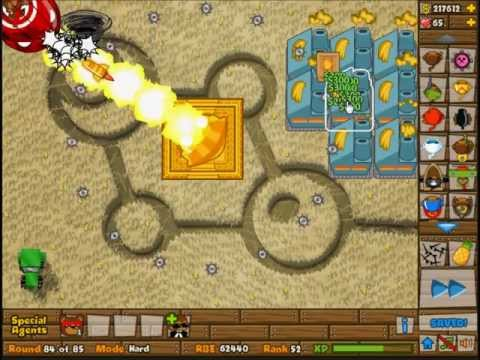 Bloon Tower Defense 5: How to play Hard Mode with Special Agent Beekeeper?
