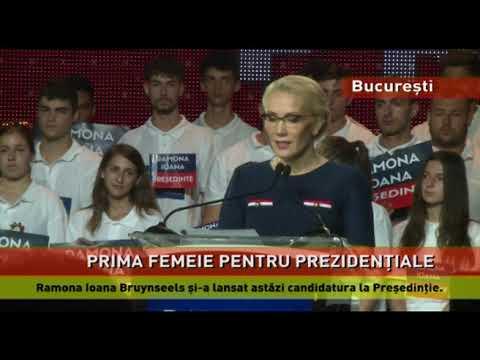 Ramona Ioana Bruynseels și-a lansat astăzi candidatura la Preşedinţie