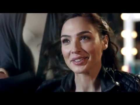 Gal Gadot is the spokesperson for League of Angels, makeup by Sarah Brock