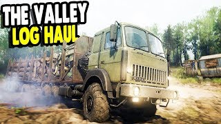 FAVORITE OFFROAD SIMULATOR Exploring New Valley DLC Logging Trail | Spintires: MudRunner Multiplayer