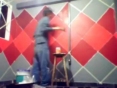 V deo un original dise o para pintar las paredes de casa - Disenos para pintar paredes ...