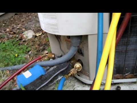 gauges - I show how to connect HVAC manifold gauges to an air conditioning system and how to remove them.