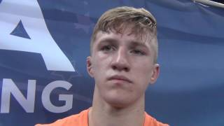 Patrick McKee (MN) after Junior Freestyle Nationals semifinal win.
