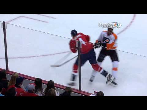 John Erskine elbows Wayne Simmonds | 02/01/2013 [HD] - YouTube