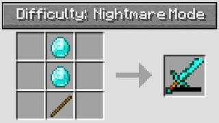 """Minecraft UHC but with """"nightmare mode"""" difficulty.."""