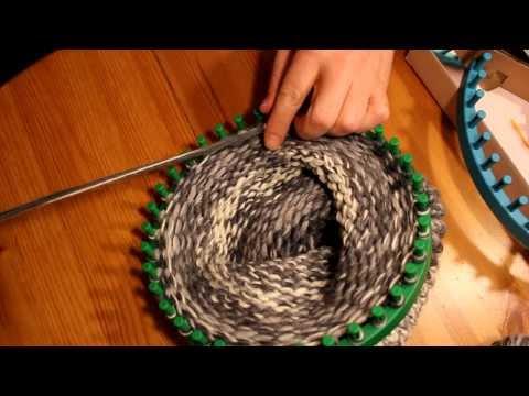 Mütze mit Strickrahmen stricken Teil 04/06: Abketten