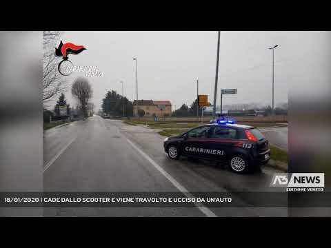 18/01/2020   CADE DALLO SCOOTER E VIENE TRAVOLTO E UCCISO DA UN'AUTO