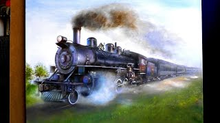 thanks for watching my friend!This drawing took me: 110 hours and 20 minuteHow to draw a locomotive with oil color my drawing materials https://youtu.be/XGvim05-18wВконтакте: http://vk.com/cuper_art