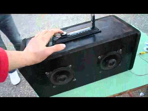 ultimo lavoro-impianto stereo portatile