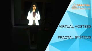 Interactive Virtual Hostess (Hologram)