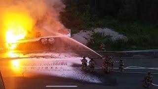 Full video: Two dead in fiery crash on I-95 in Stonington