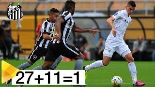 UM GOL COM A ASSINATURA DO PEIXE! Antes de estufar a rede do Botafogo pela segunda vez, a bola passou nos pés de todos os jogadores do Santos, ...