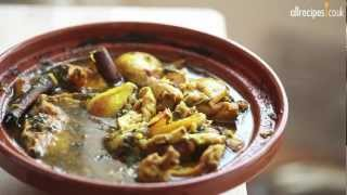 Chicken tagine with pears