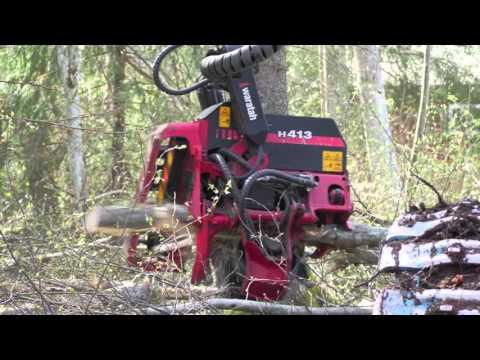 Red On Red, Komatsu 911.5 with Waratah H413 (видео)