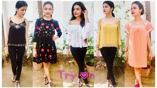 """Hi everyone!This is shopping haul video. I shopped few stuff from the sale and thought to show you guys what all I got and how it looks on me. There was some good sale on many of brands like zara, forever 21, vero moda, only, charles & keith, so I got my hands on them. Hope you enjoyed watching this video. Do let me know what you liked the most and like this video. And if haven't subscribed yet so please subscribe as it means a lot :)Take care , God Bless :)Background music courtesy : Where I am From - Topher Mohr and Alex Elena https://youtu.be/wHM3Nfqj1XI-~-~~-~~~-~~-~-Please watch: """"BEST DANDRUFF TREATMENT AT HOME  SEBORRHEIC DERMATITIS TREATMENT AT HOME 100% RESULTS IN ONE USE"""" https://www.youtube.com/watch?v=sncnTLnEUK4-~-~~-~~~-~~-~-"""