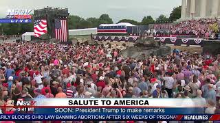 HUGE CROWDS: Thousands Come For President Trump's Salute To America