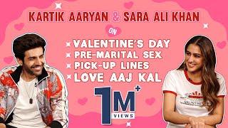 Video Kartik Aaryan-Sara Ali Khan On Valentine's Day, Pre-Marital Sex, Weird Pick-Up Lines & Love Aaj Kal download in MP3, 3GP, MP4, WEBM, AVI, FLV January 2017