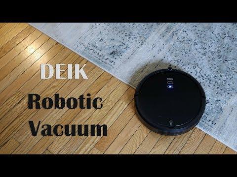 ⭐DEIK Robotic Vacuum Cleaner -NEW MODEL-Robot Vac High Suction HEPA - REVIEW 👈