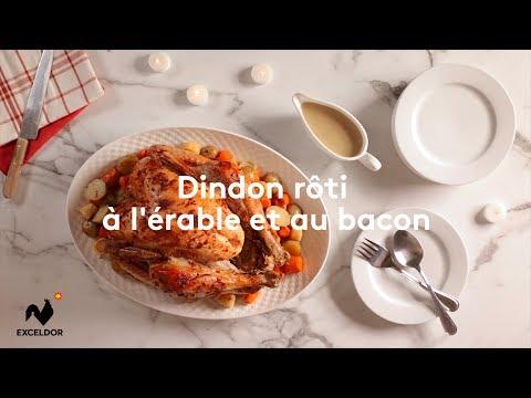 Dindon rôti à l'érable et bacon