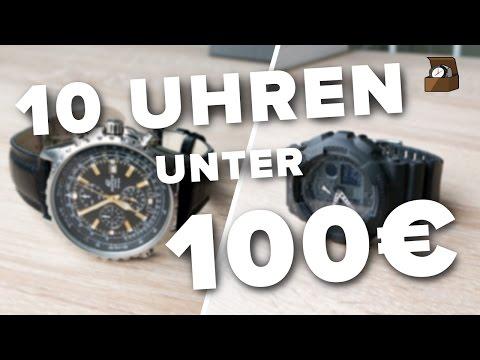 10 UHREN unter 100 EURO // Deutsch // Kaufratgeber #1 // FullHD