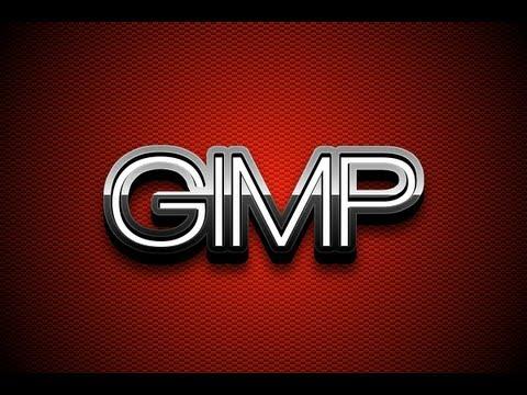 GIMP Tutorial: Glossy Metal 3D Text