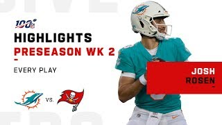 Every Josh Rosen Play vs. Buccaneers | NFL 2019 Highlights by NFL