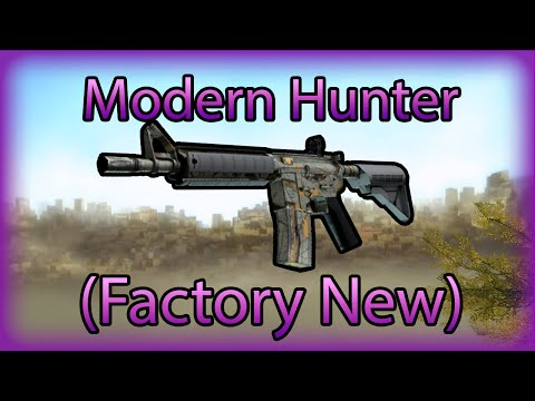 Modern - This M4A4 | Modern Hunter (Factory New) ain't no joke. It's extremely rare, pretty damn expensive and a joy for the eyes. I just LOVE this skin and I hope you do aswell. Music is Tap Dancing...