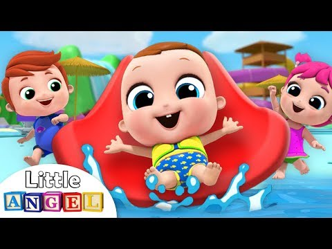 Baby Goes to the Waterpark | Playground Song | Nursery Rhymes Little Angel - Thời lượng: 3 phút, 34 giây.