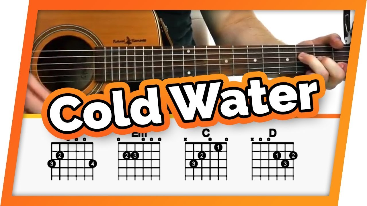 Cold Water – Justin Bieber / Major Lazer – Guitar Tutorial For Beginners | Easy Chords Lesson