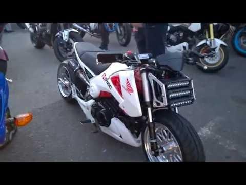2015 Honda MSX 125 Grom Custom Extended Wheelbase Motorbike @ London Ace Cafe