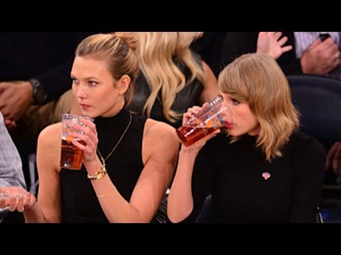 Taylor Swift Drinks Beer, Plays Basketball and Dances with NY Knicks!