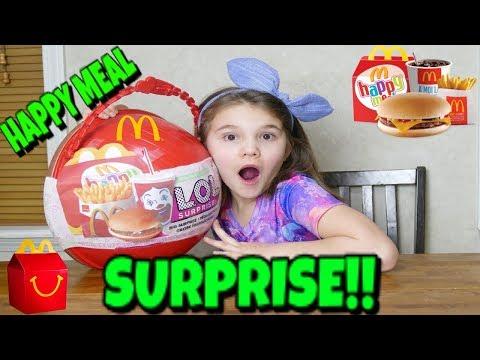 LOL Happy Meal Big Surprise! Custom LOL Mcdonalds Big Surprise Unboxing!