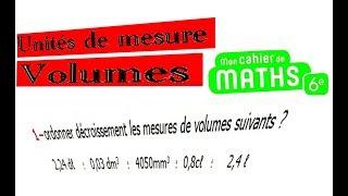 Maths 6ème - Les volumes unités de mesure Exercice 4
