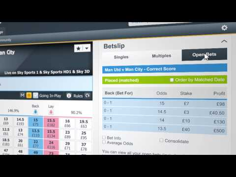 Betfair Bet View Slider