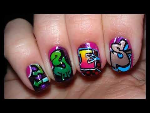 Modelos de uñas - Graffiti uñas decoradas ideas Sencillas Faciles y Elegantes