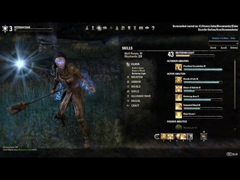 Elder Scrolls Online Templar Build Healer