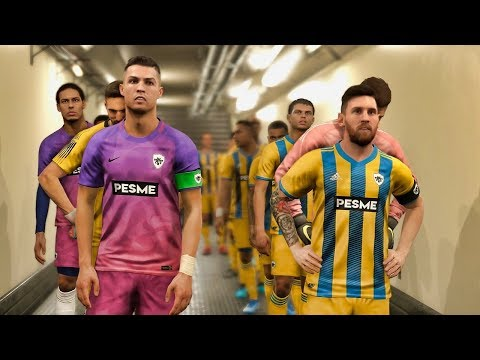EUROPE vs SOUTH AMERICA ft Messi , Ronaldo | PES 2019 Experiment