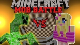 Girlfriend Vs. Mutant Creeper - Minecraft Mob Battles - Arena Battle - Mutant Creature Orespawn Mods