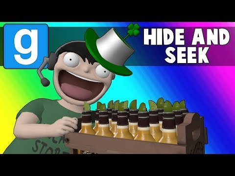 Gmod Hide and Seek Funny Moments - St. Patricks Day 2018! (Garry's Mod) (видео)