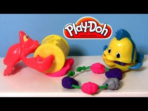 little mermaid - From Disney princess the Little Mermaid this is play doh Ariel jewels and gems. Learn to shape play-doh jewelry with Sebastian and Flounder. Another super co...
