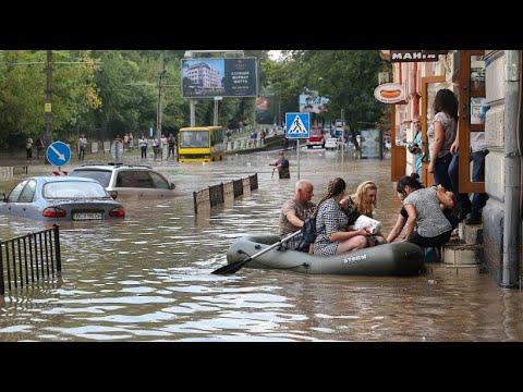 Ukraine: Rekordregen - binnen einer Stunde fiel in Lv ...