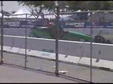 Nopi Drift Show crash 7-1-07 Carson, Ca