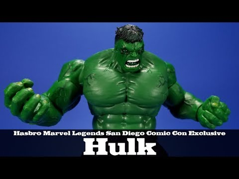 Marvel Legends Hulk Retro Carded San Diego Comic Con Exclusive Hasbro Vintage Action Figure Review