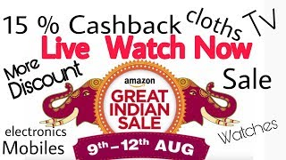 Amazon Great Indian Sale starts from 9 aug to 11 aug in which you will get so many deals and discounted offers on thousands of products in so many categories. You will get cashback using Amazon pay and sbi credit/ debit card Link to amazon salehttp://amzn.to/2vmL2JyTop Dealshttp://amzn.to/2vjBlxkSome Great Deals on amazon sale hereIpohne 7 32 Gb Rs42999http://amzn.to/2wIuIlQIphone 6 32 gb Rs 23999http://amzn.to/2ftATY1Oneplus  5 Exchange offerhttp://amzn.to/2wI31JZHonor 6x 32Gb Rs 10999http://amzn.to/2vjsEDkCoolpad note 5 Rs8999http://amzn.to/2vPcIKigoogle pixel 32 Gb Rs 48990http://amzn.to/2vjwTyNDeals on Earphones and headphoneshttp://amzn.to/2vjstaZJBL GO Portable Wireless Bluetooth Speaker http://amzn.to/2vjGWDRAlso Check Flipkart big Freedom SaleTop Offers on flipkart freedom salehttp://fkrt.it/ZCUNpTuuuN