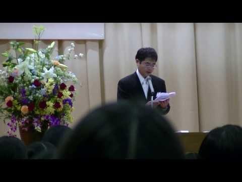 2014.03.14(金) 平成25年度 西南部中学校 卒業式 PTA会長 祝辞